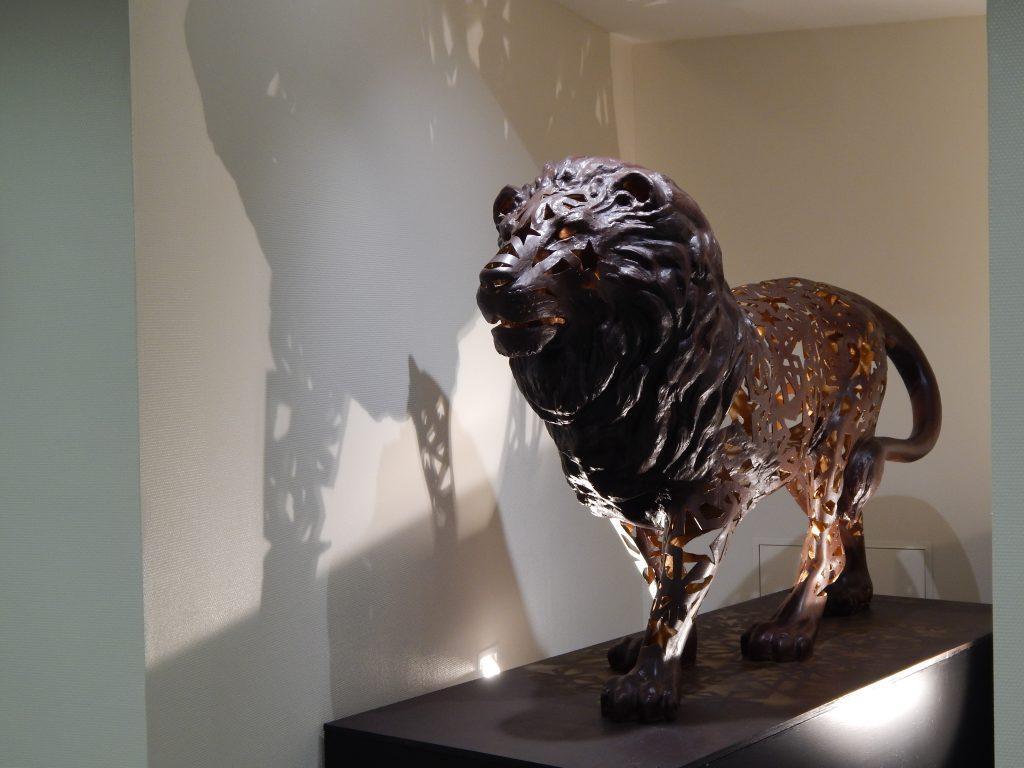 Sculpture de Lion située dans l' Hôpital Maternité de Ste Foy lès Lyon