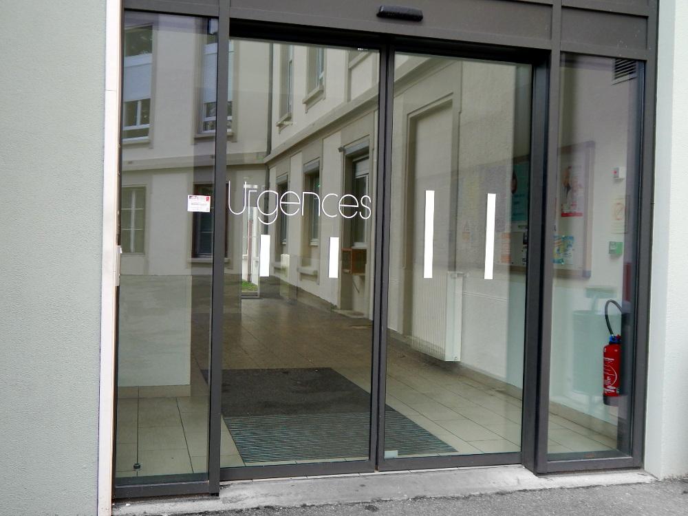 Entrée des urgences de Gynécologie de l'hopital maternité de Ste Foy lès Lyon
