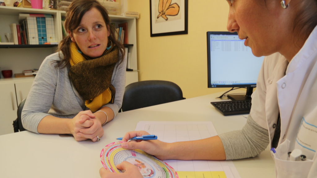 Consultation avec le Dr HERGHEA à l'hopital maternité de ste foy lès Lyon
