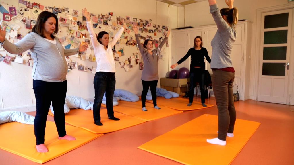 Cours de préparation à l'accouchement proposé par l'hopital maternité de Ste Foy lès Lyon