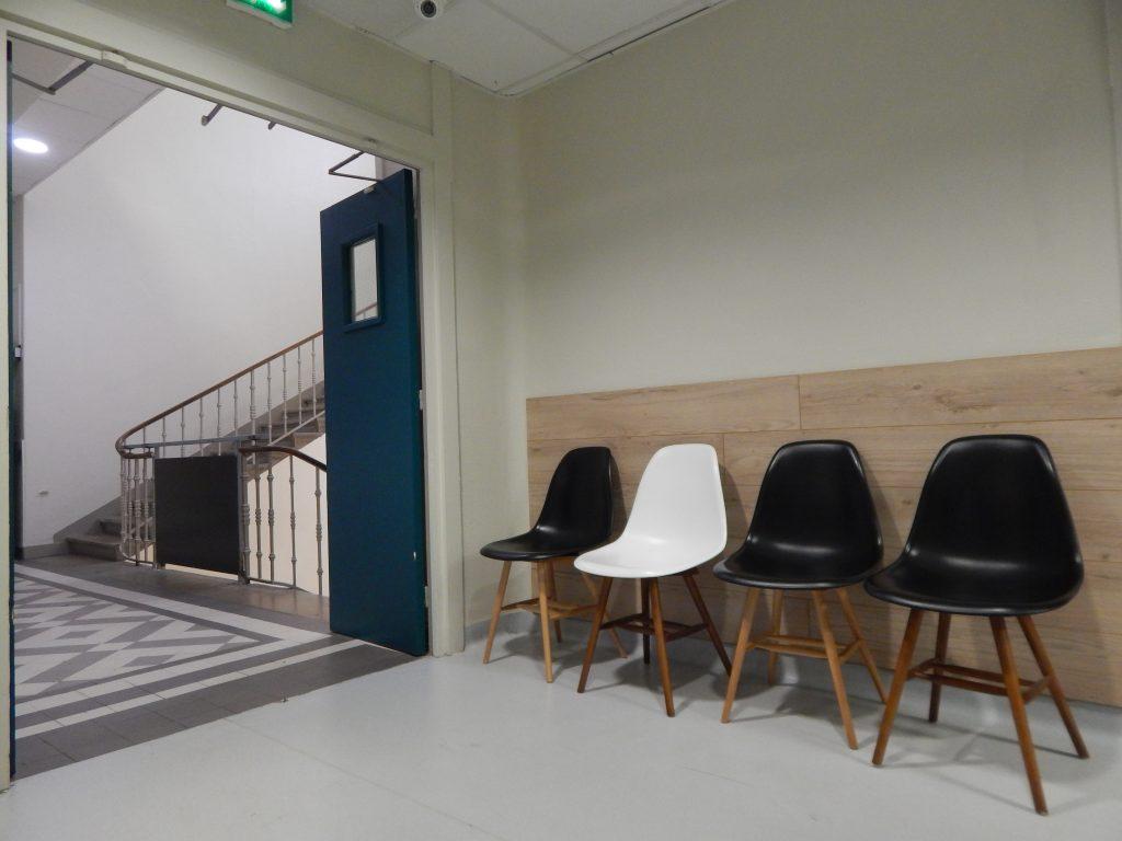 Entrée du service de Gynécologie de l'hopital maternité de Ste Foy lès Lyon