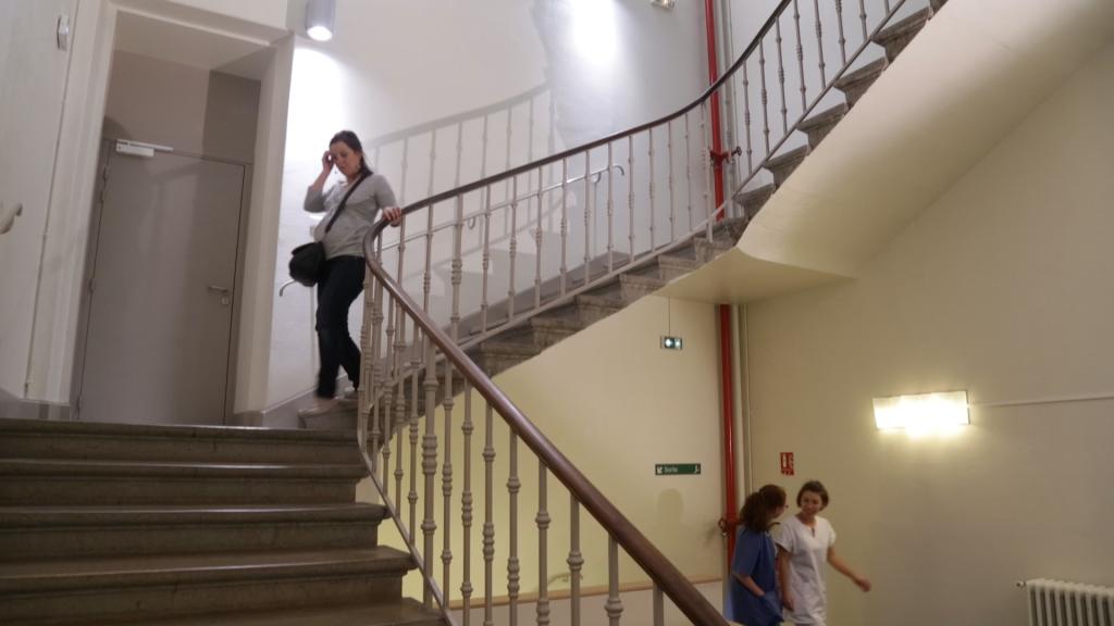Escalier de l'hopital maternité de ste foy lès Lyon